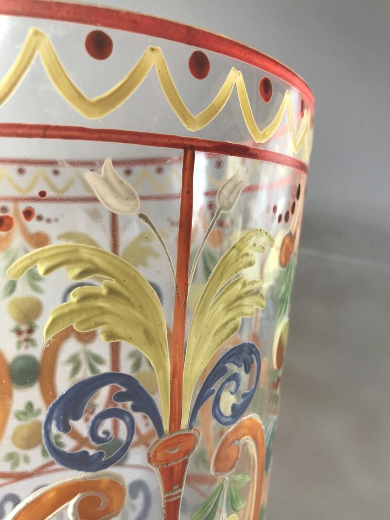 V Old Large enamelled Ice Bucket vase? Wheres it from?! Img_8117