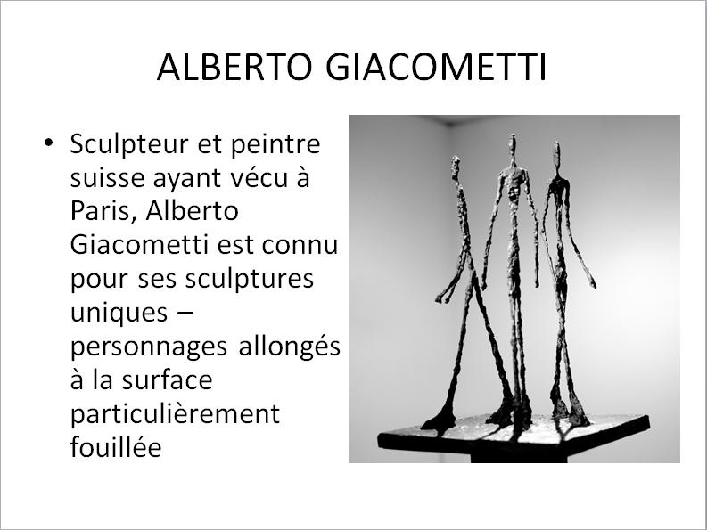 ALBERTO GIACOMETTI (apprécier) premier cycle  Gia_210