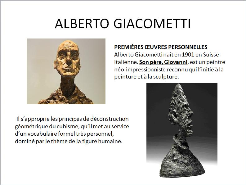 ALBERTO GIACOMETTI (apprécier) premier cycle  Gia_311