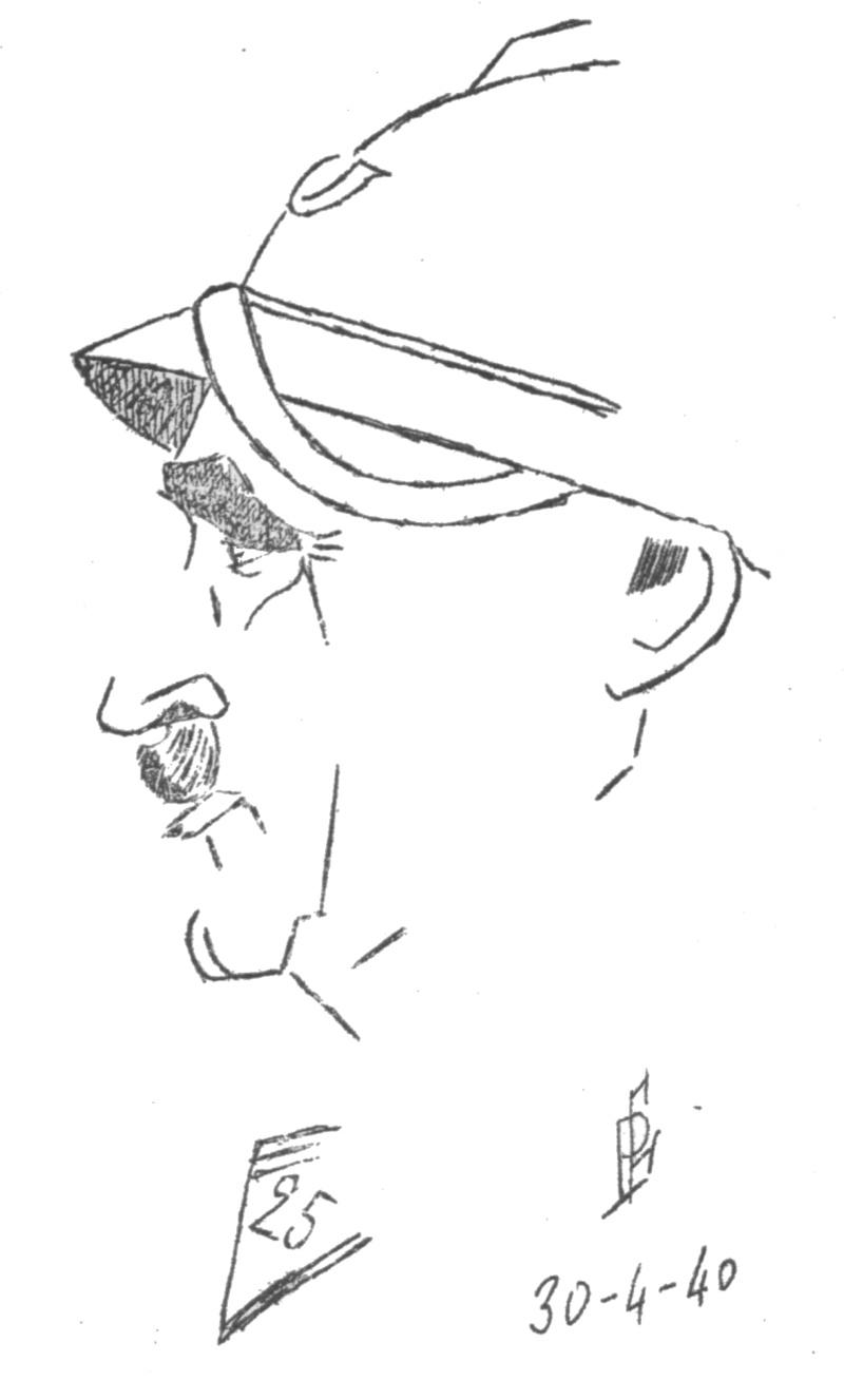 Képi du lieutenant Fernand Maudrux, officier mitrailleur au 25e GRDI  Cnegzo11