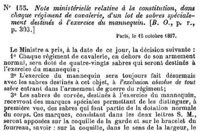 Sabre français de cavalerie 1822  2018-010