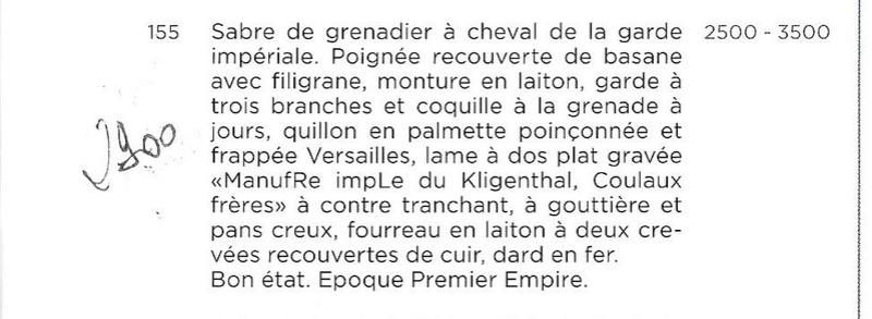 Sabre Grenadier a Cheval Garde Imperiale  - Page 3 Grenad10
