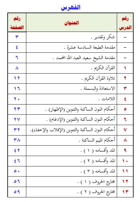 كتاب (دروس في ترتيل القرآن الكريم) 111