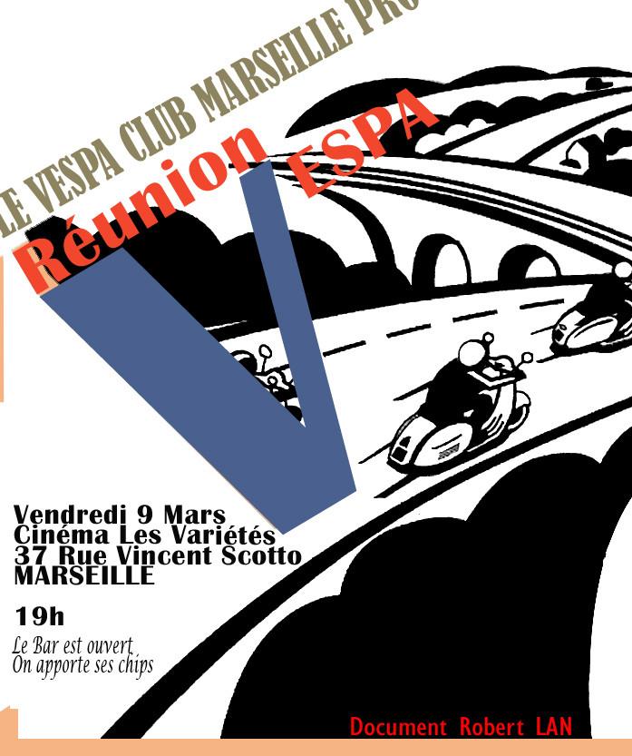 Vendredi 9 mars, c'est la réunion mensuelle 002110