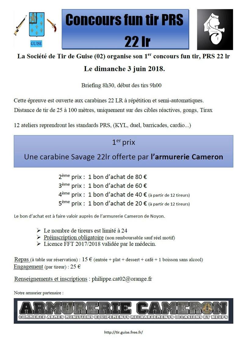 1er concours PRS 22lr de la Societe de Tir de Guise, 3 juin  Affich11