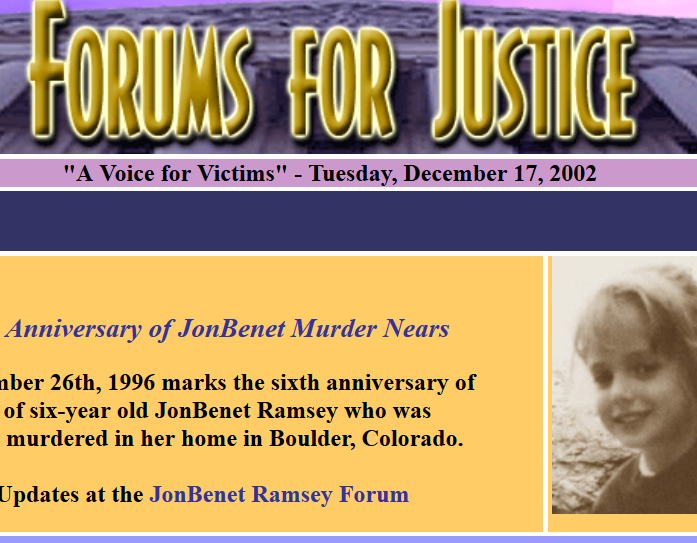 JonBenet Ramsey forumsforjustice are scientific frauds by forensic files 0c7e5610