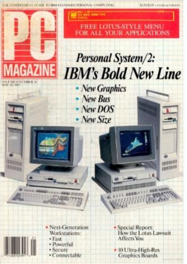 the very first PC magazine i read and  IBM PS/2 model 50 and windows 3.0 0da9f410