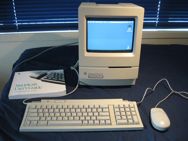 my second computer was the mac classic 2   2009-010