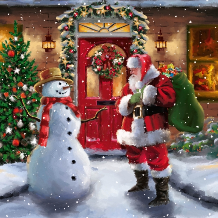 it's snowing heavily today and christmas cards 4fb95810