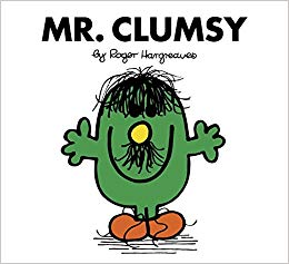 My father bought me Mr. Clumsy by Roger Hargreaves so I could practice reading 51n2bv10