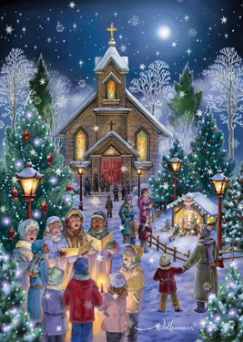 it's snowing heavily today and christmas cards Rw002-10