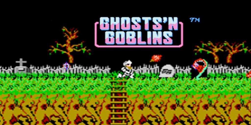 Halloween sega master system ghost house and nintendo ghost and goblins and black couldron Si_3ds10