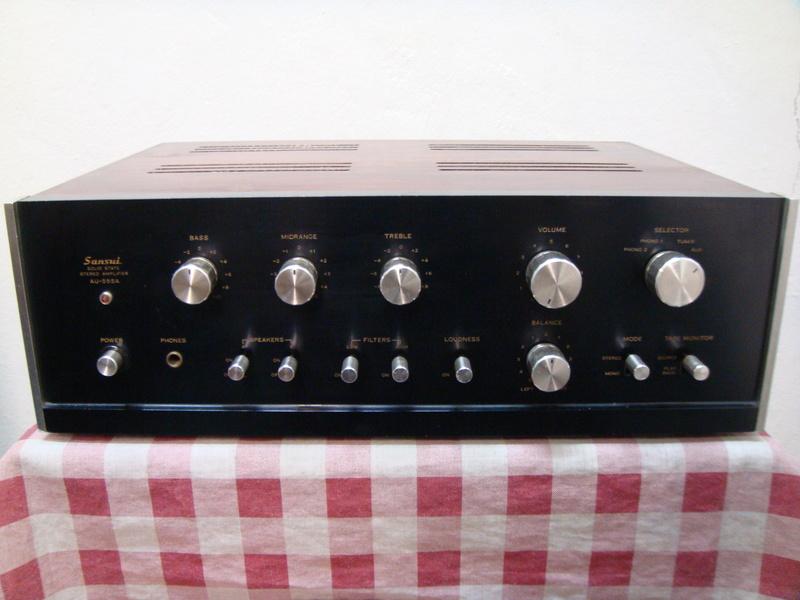 Sansui AU-555A integrated amplifier (sold) Dsc06613