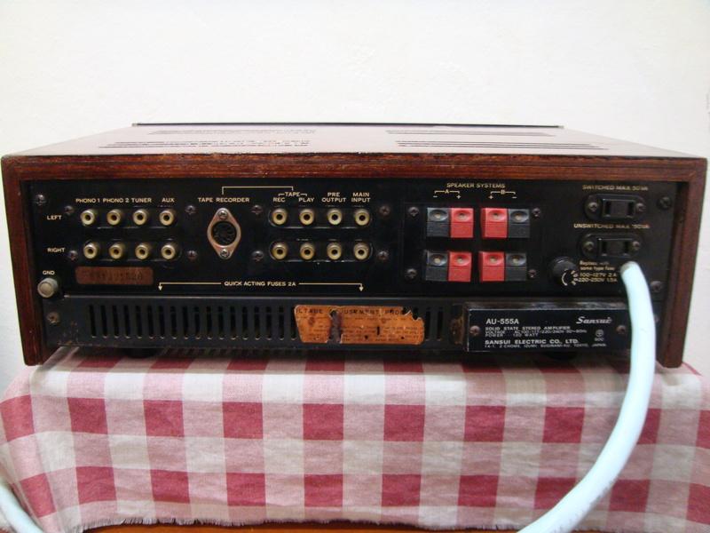Sansui AU-555A integrated amplifier (sold) Dsc06614