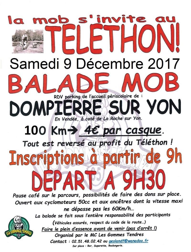 RANDO TELETHON 9 décembre 2017 Dompierre sur yon Affich10