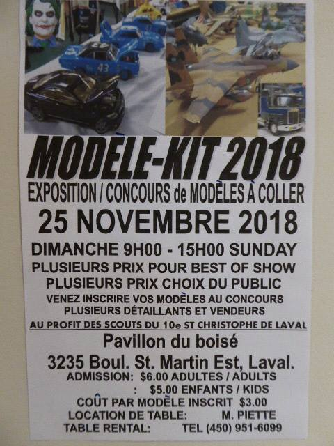Expo modelkit laval, 25 nov. 29981510