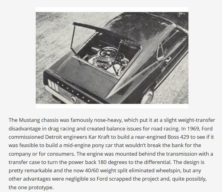 Mustang 1969 moteur central 429bos10