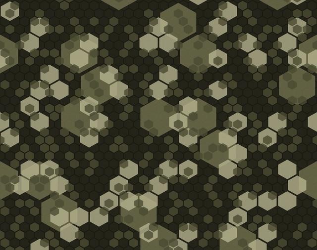 Étude sur le camouflage Hexago11