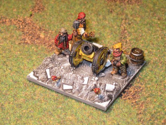 armée naine de la Moria en 15mm Artill12