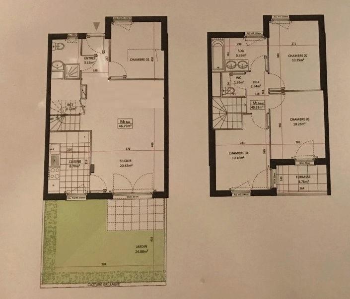 conseil aménagement maison vente sur plan de 88m2 Olfa10