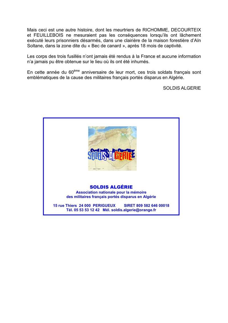 CÉRÉMONIE : Ravivage de la Flamme de l'Arc de Triomphe par l'Association des soldats disparus en Algérie (SOLDIS ALGERIE) à Paris le 30 avril 2018 à 18h00. Trois_12