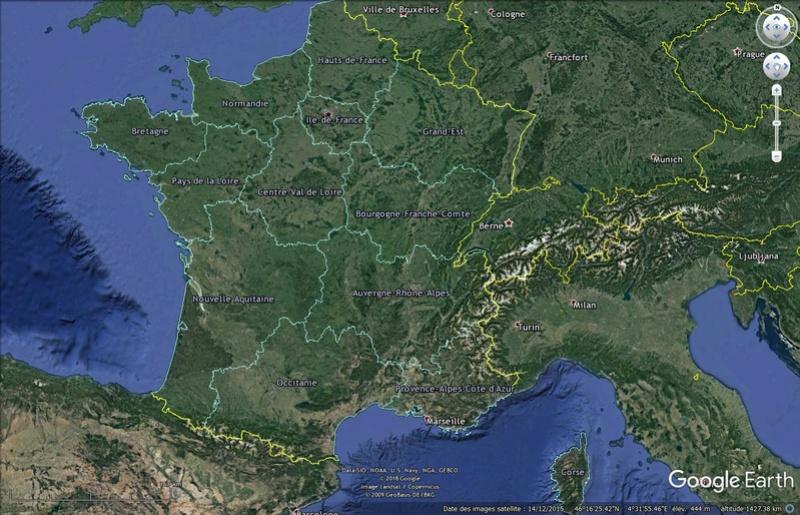 KMZ:Les 13 nouvelles régions Française Rygion10
