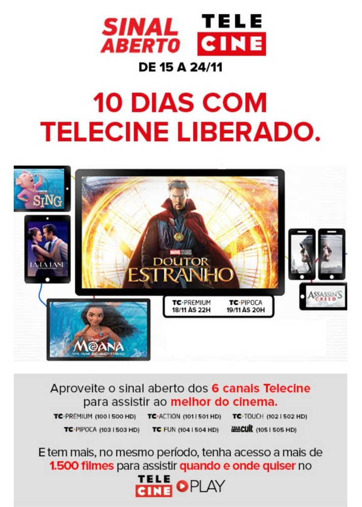 Aproveite o sinal aberto dos canais Telecine Img-2010