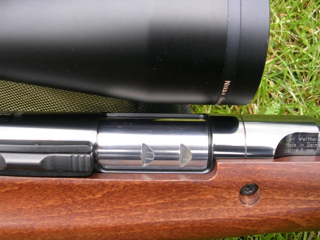 Montage  lunette 30 objectif 56 et réglage de parallaxe sur TX 200 1trl1s10