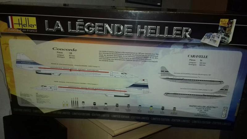 Coffret LA LEGENDE HELLER CARAVELLE - CONCORDE 1/100ème Réf 52324 25507812
