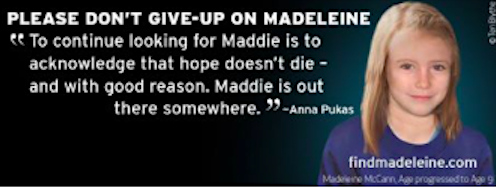 Message from Kate & Gerry McCann on the 11th Anniversary of Madeleine's Abduction Screen18