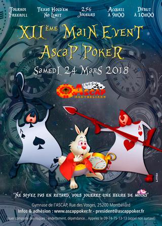 Main Event ASCAP Poker le samedi 24 Mars à Montbéliard Affich13