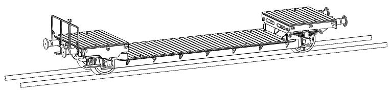 [TJ-Modeles] Plat surbaissé Arbel 20t - Ech. N Tj-75412