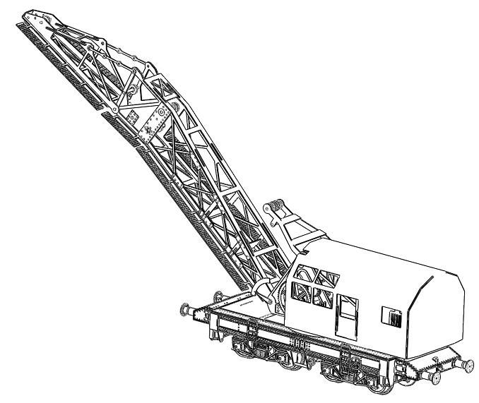 [TJ-Modeles] Grue Caillard - Echelle N Tj-76011