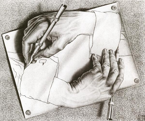 À propos des illusions  Escher10