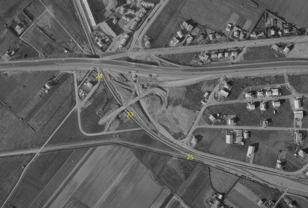 3  P.k.16.4 (nouveau tracé) 1961/69 Contournement de Colomiers. 22_19610