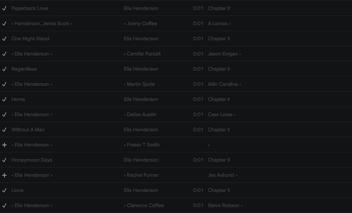 Registry: @EllaHenderson • 'Chapter II' • Epic/Syco [90+ songs] Screen45