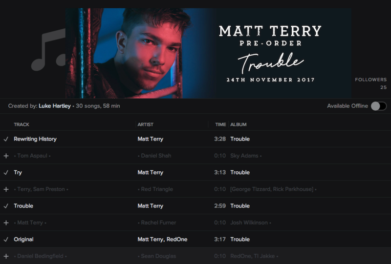 CREDITS: @MATTTERRY93 • 'TROUBLE' • SYCO/EPIC Screen88