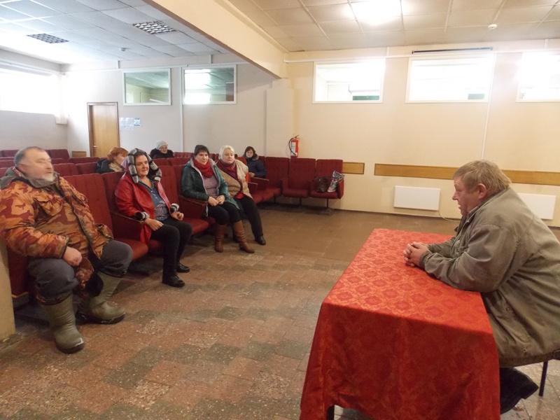 Встреча с зам. директора по охране территории НП «Смоленское Поозерье» с населением посёлка 110