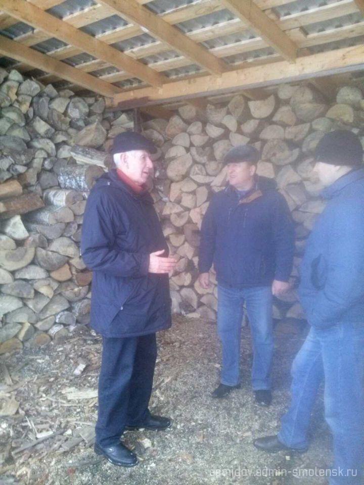 Депутат Смоленской областной думы П.М. Беркс с рабочим визитом побывал в поселке Пржевальское 113