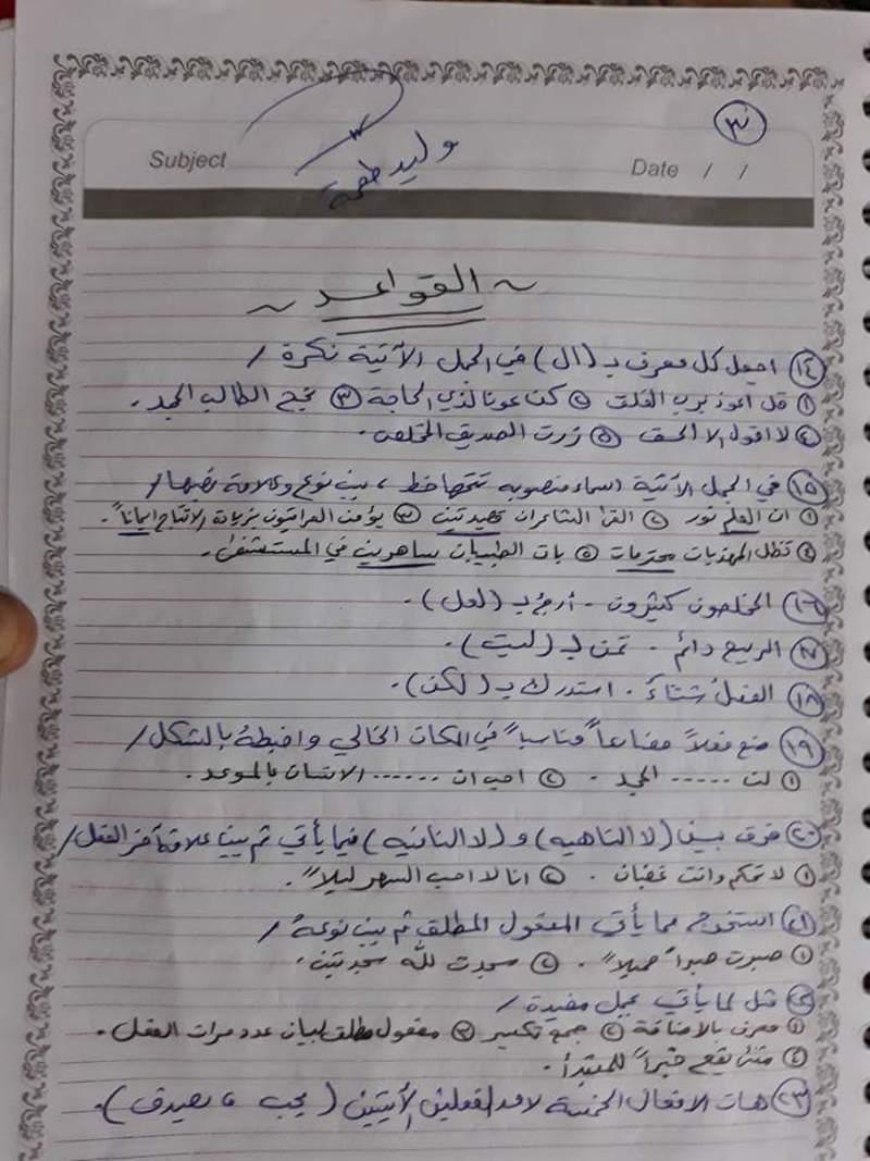 مرشحات مادة اللغة العربية للصف السادس الابتدائي القواعد والمحفوظات 2019 316