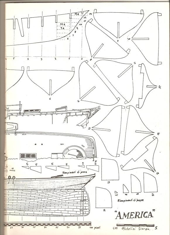 piani  https - modellistinavali forumattivo com - Piani di cantiere schooner America 00410