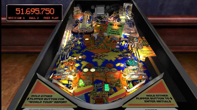 Pinball Arcade : Al's garage band goes on a world tour Worldt10