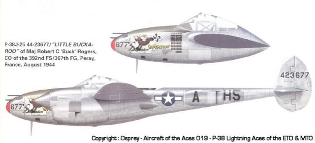 """ RAZORBACK "" Picauville juillet 44 ( Tamiya 1/48)FINI P-38_310"