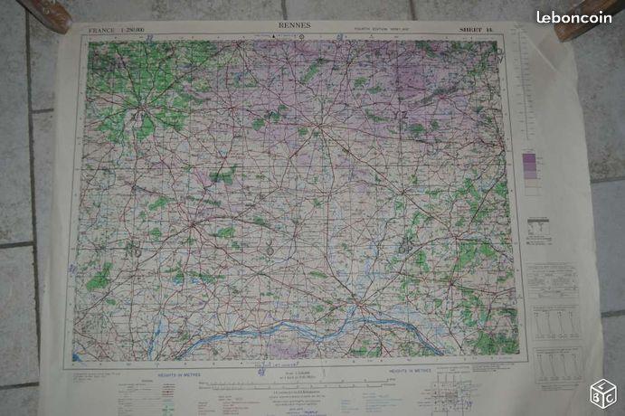 Carte d'état major ww2 25aa1b10