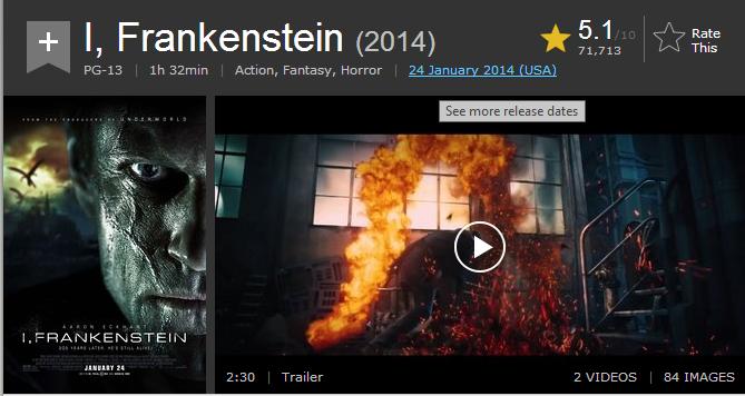 فيلم الاكشن والفنتازي والرعب الرهيب I, Frankenstein (2014) 720p BluRay مترجم بنسخة البلوري 07-05-14