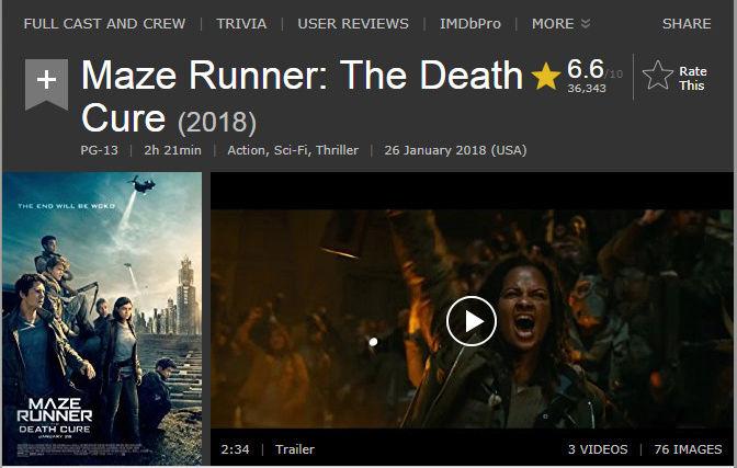 حصريا فيلم الاكشن والخيال والاثارة المنتظر Maze Runner The Death Cure (2018) 720p BluRay  مترجم بنسخة البلوري 2018-025