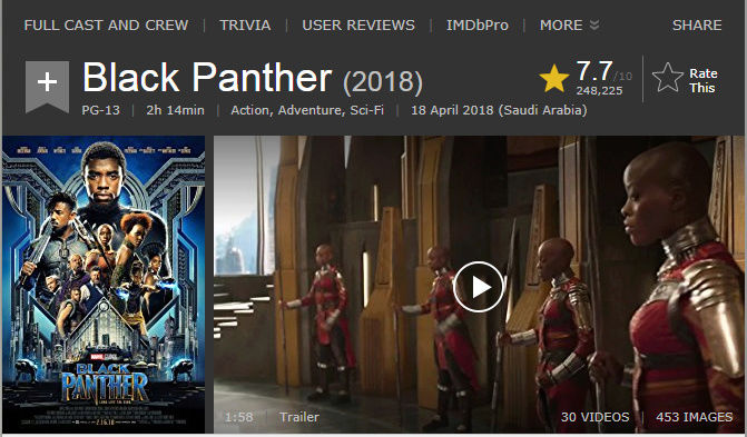 حصريا فيلم الاكشن والمغامرة والخيال المنتظر Black Panther (2018) 720p BluRay مترجم بنسخة البلوري 2018-030