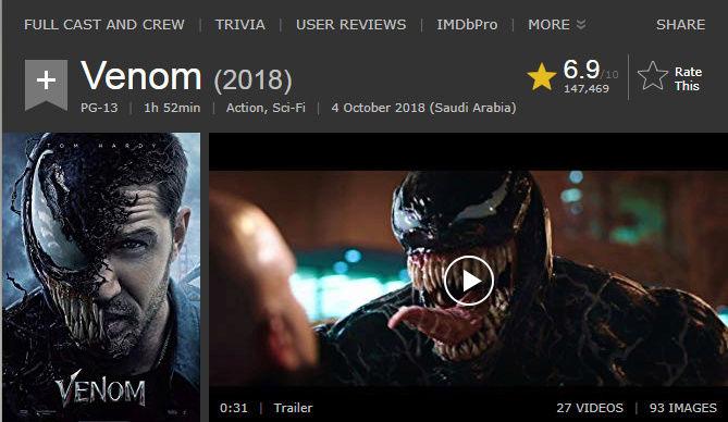 حصريا فيلم الاكشن والخيال المنتظر بقوة Venom (2018) 720p HDRip مترجم بنسخة الاتش دي 2018-110
