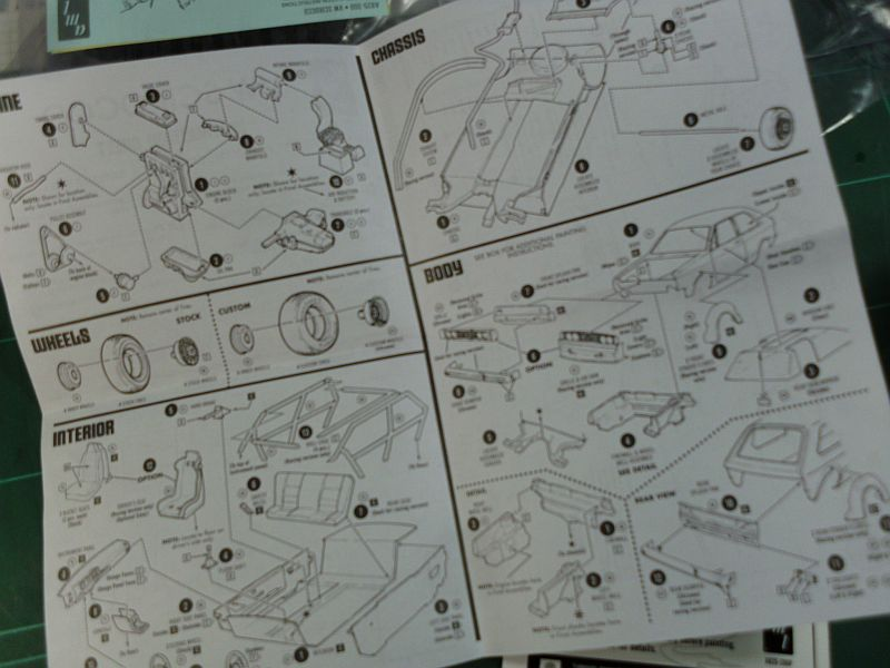 AMT/Ertl 2002 - VW Scirocco - Plastikbausatz in 1/25 Baubericht 1220