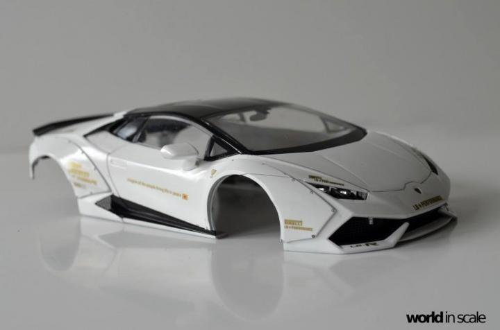 "Lamborghini Huracán ""Liberty Walk"" - 1/24 by Aoshima & Hobby Design 13n10"
